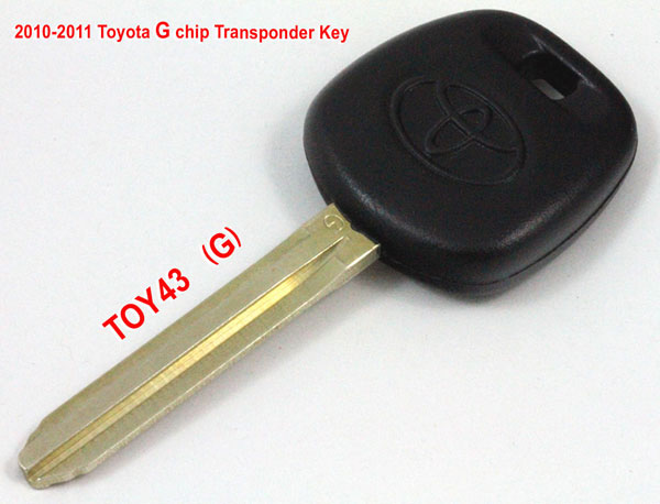 2010-2011 Toyota G chip transponder key