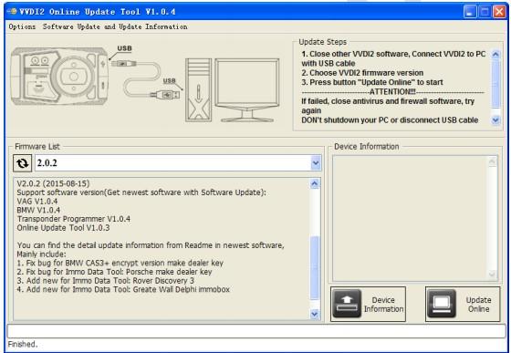 VVDI2 key programmer firmware update