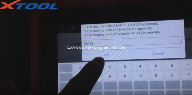 xtool-x100-pad-program-mitsubishi-outlander-key-10