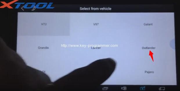 xtool-x100-pad-program-mitsubishi-outlander-key-6