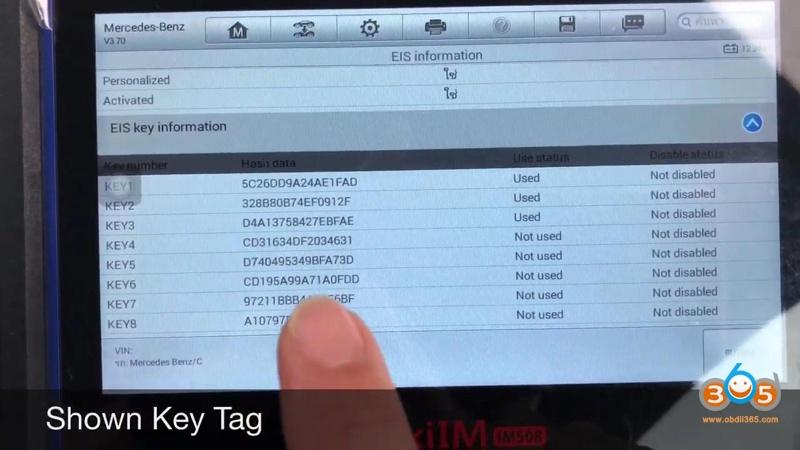 Autel Maxiim Im508 And Xp400 Add Smart Remote Benz C180 20