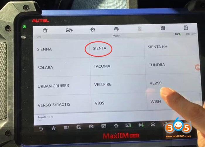 Toyota Sienta Akl Autel Im608 6
