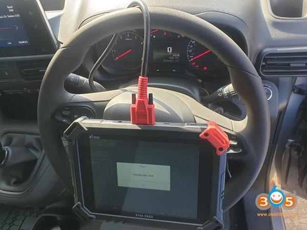 Vauxhall Combo Pin Code Xtool 3