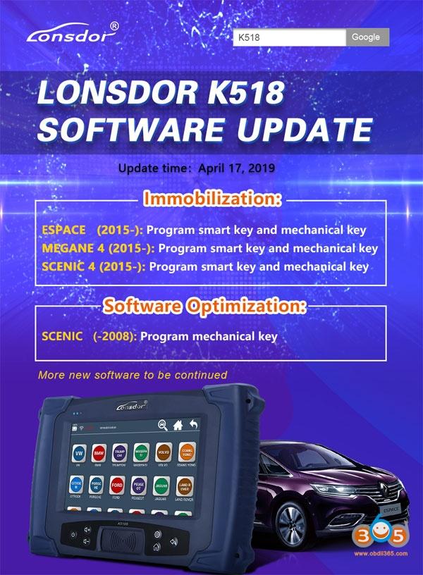 Lonsdor K518 Update Renault