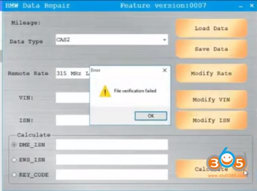 Cgdi Bmw File Verification Failed
