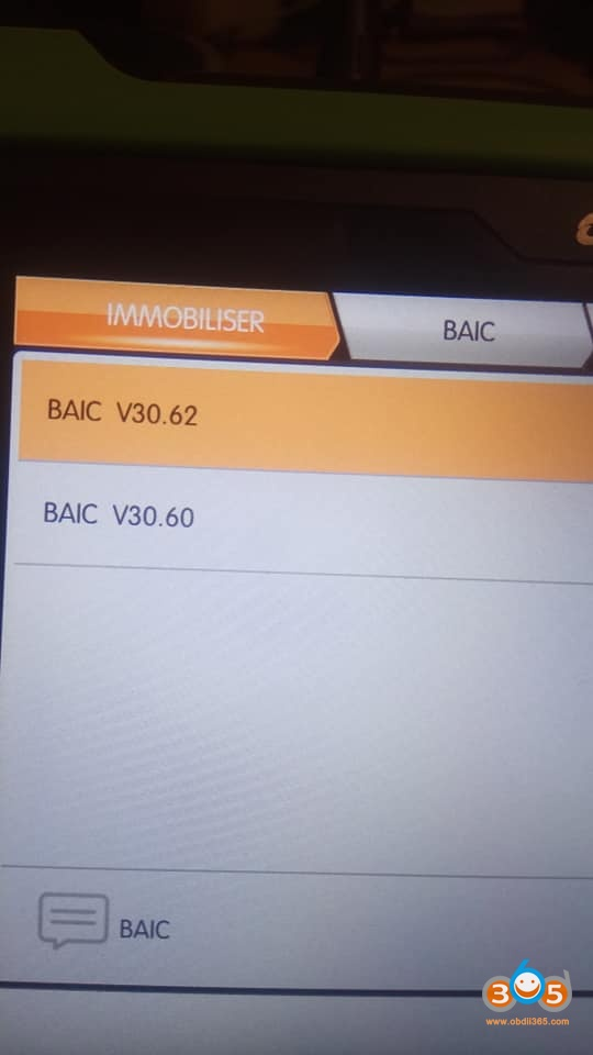 Obdstar Baic X55 Key Programming 1