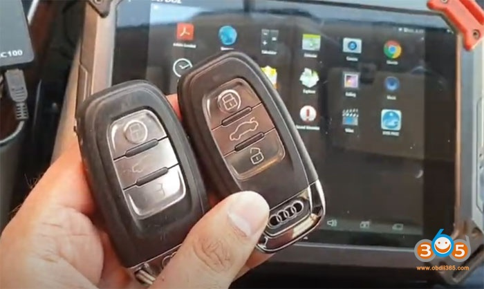 Xtool X100 Pad2 Audi Q5 Add Key 1