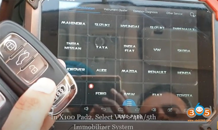Xtool X100 Pad2 Audi Q5 Add Key 2