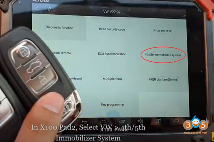 Xtool X100 Pad2 Audi Q5 Add Key 3