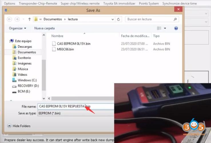 Vvdi2 Bmw Cas3 Key By Dump 8