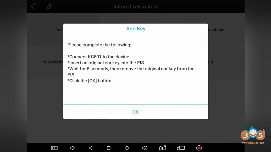 Xtool Kc501 Pad3 Obd Add Mercedes Infrared Key 07