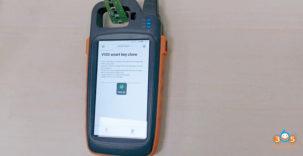 Xhorse Key Tool Max Vvdi Smart Key Clone 15