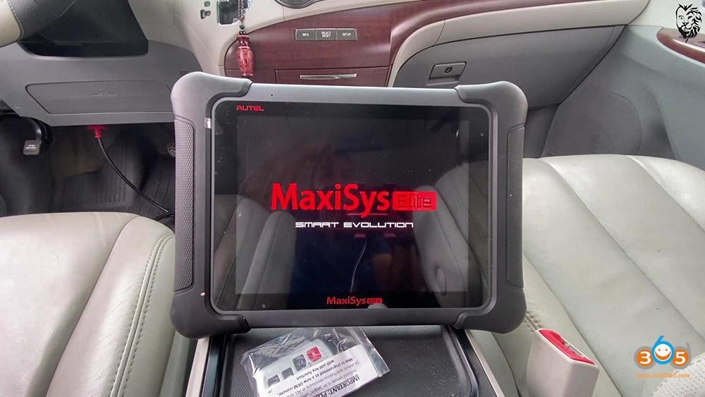 Autel Maxisys Elite Program Toyota Sienna 2013 Smart Keyfob 03