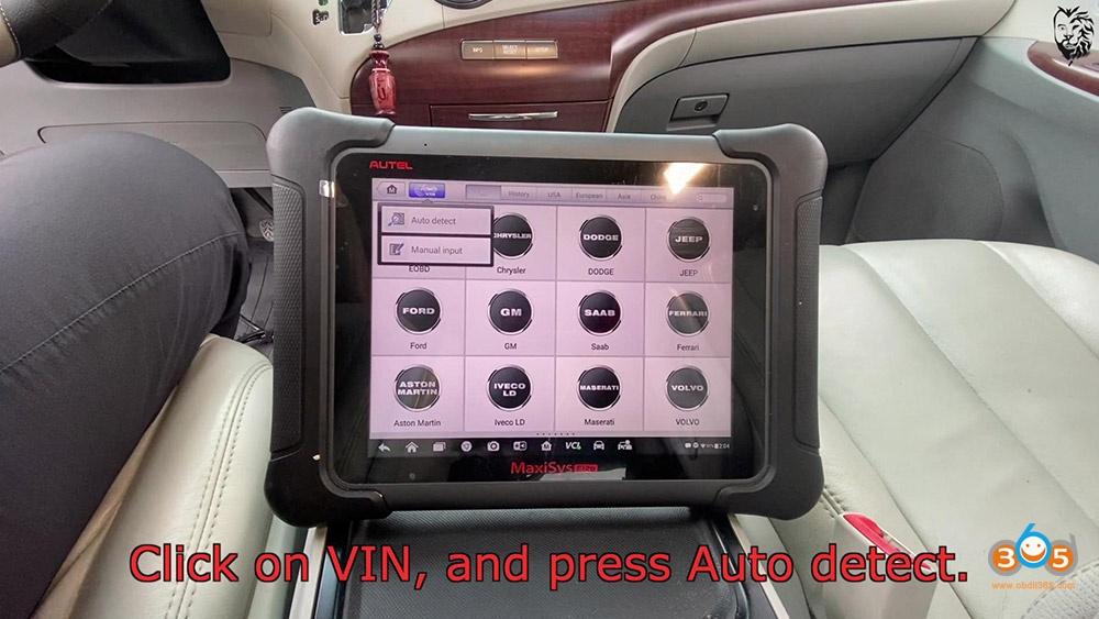 Autel Maxisys Elite Program Toyota Sienna 2013 Smart Keyfob 08