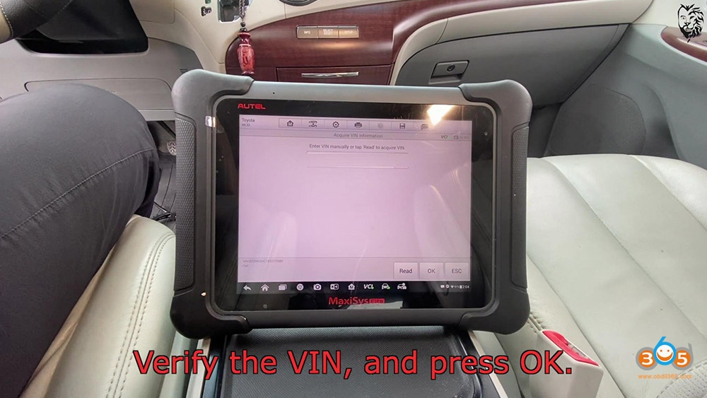 Autel Maxisys Elite Program Toyota Sienna 2013 Smart Keyfob 10