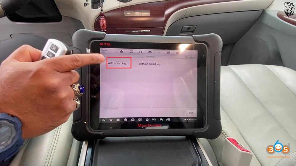 Autel Maxisys Elite Program Toyota Sienna 2013 Smart Keyfob 12