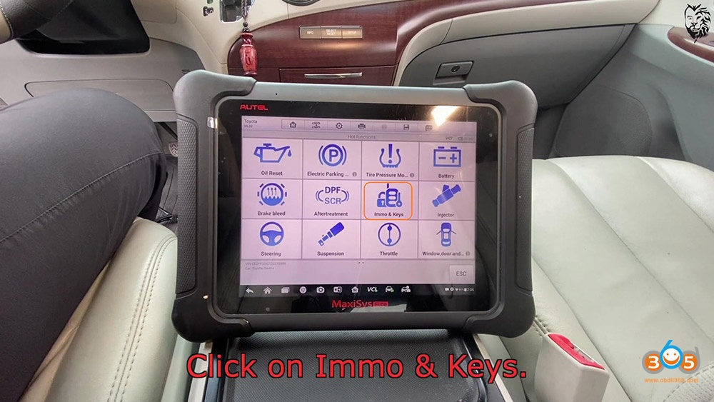 Autel Maxisys Elite Program Toyota Sienna 2013 Smart Keyfob 15