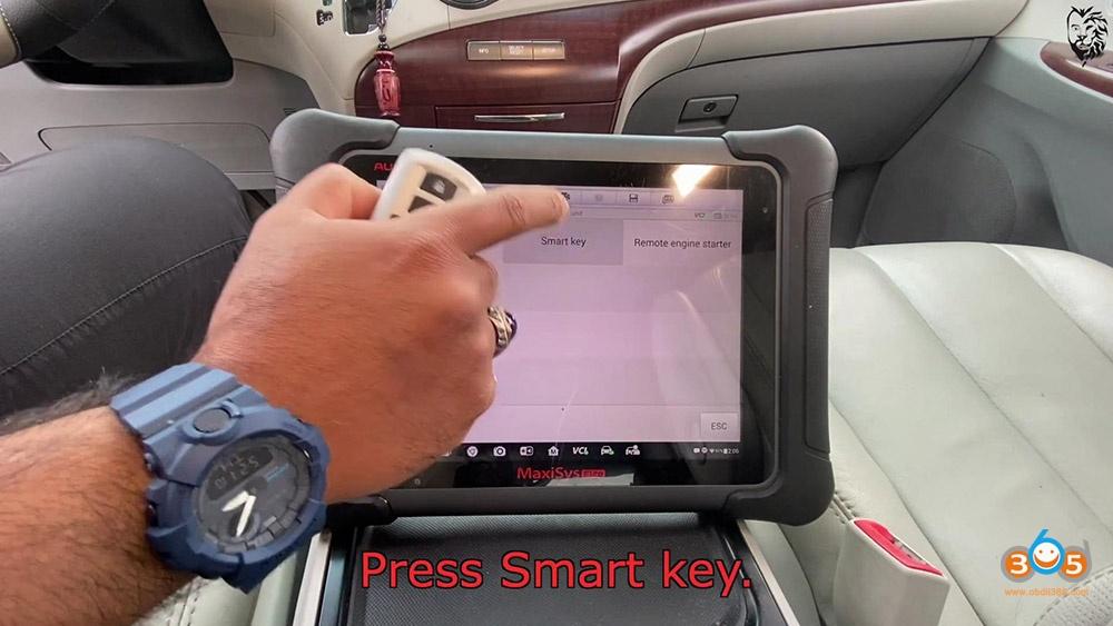 Autel Maxisys Elite Program Toyota Sienna 2013 Smart Keyfob 17
