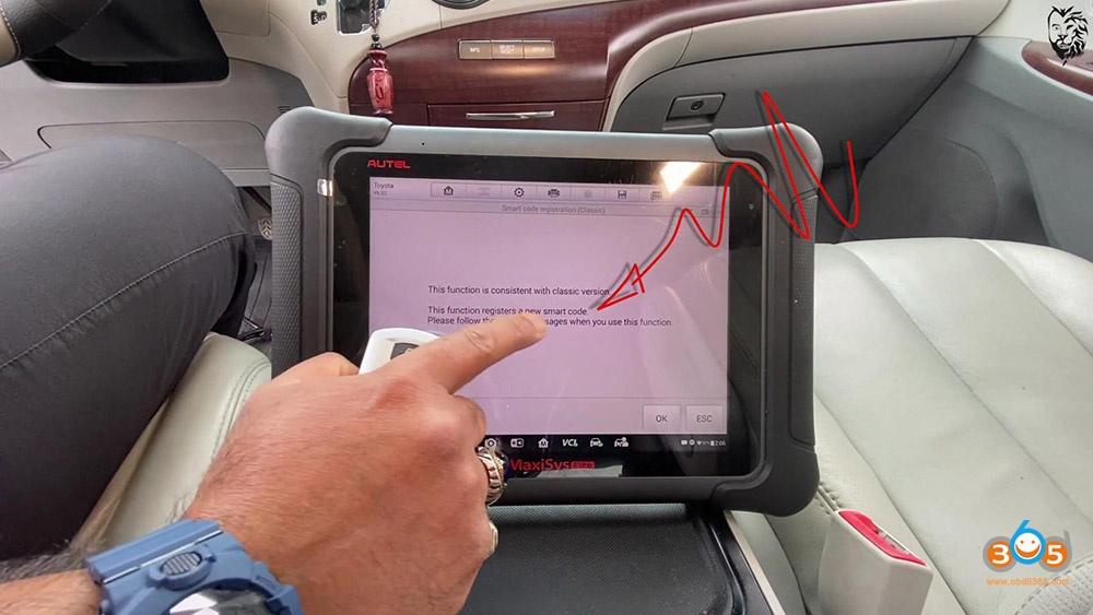 Autel Maxisys Elite Program Toyota Sienna 2013 Smart Keyfob 19