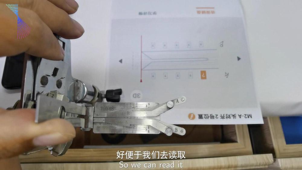 Lishi Condor Dolphin Read Toy48 Key Bitting Code 02