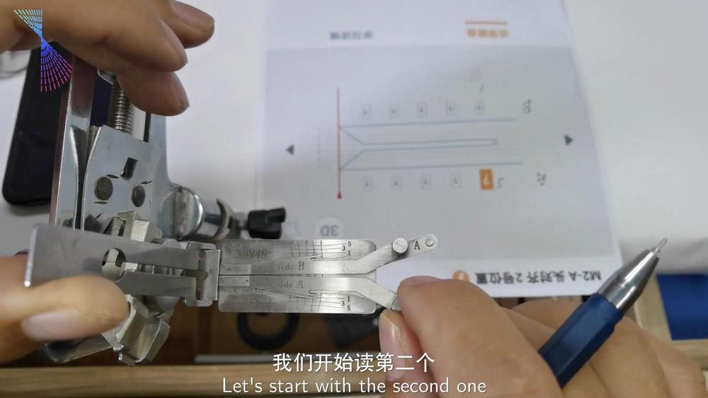 Lishi Condor Dolphin Read Toy48 Key Bitting Code 03