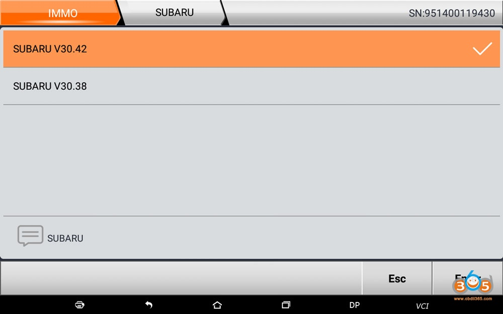 Obdstar Subaru V30 42 Update 04
