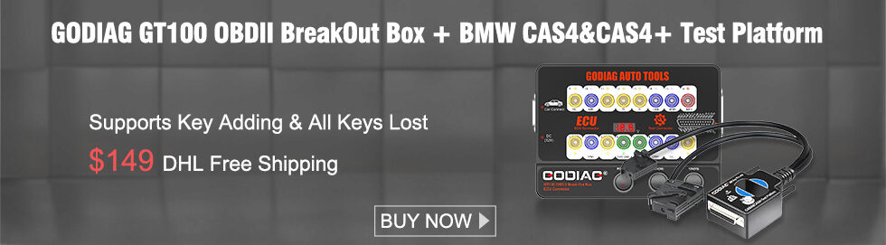 980 280 GODIAG GT100 OBDII BreakOut Box + BMW CAS4&CAS4+ Test Platform