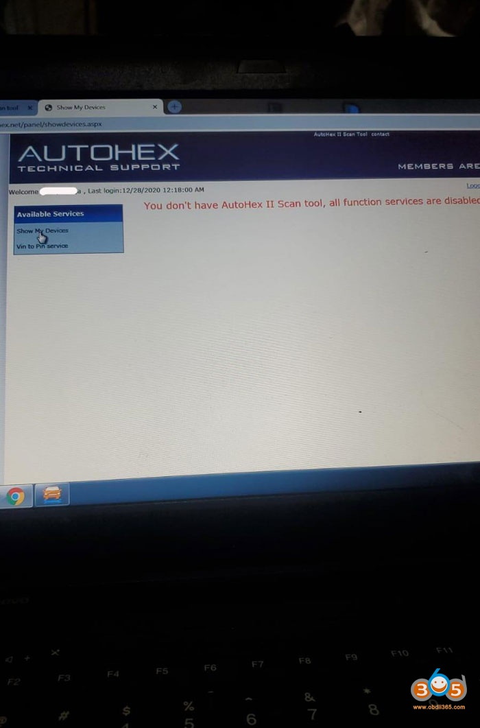 Autohex Ii Function Disabled 1