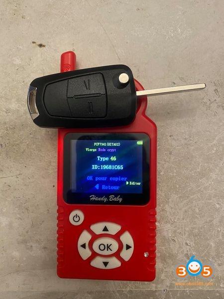 Obdstar Opel Zafira B 2006 Key 1