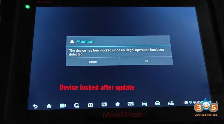 Autel Im608 Device Locked 1