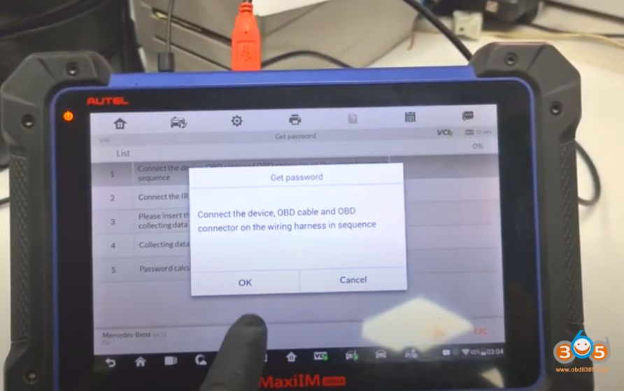 Autel Im608 Mb Test Tool W209 W211 Password 21