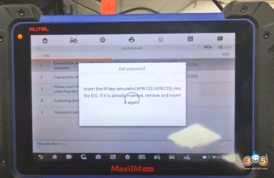 Autel Im608 Mb Test Tool W209 W211 Password 25