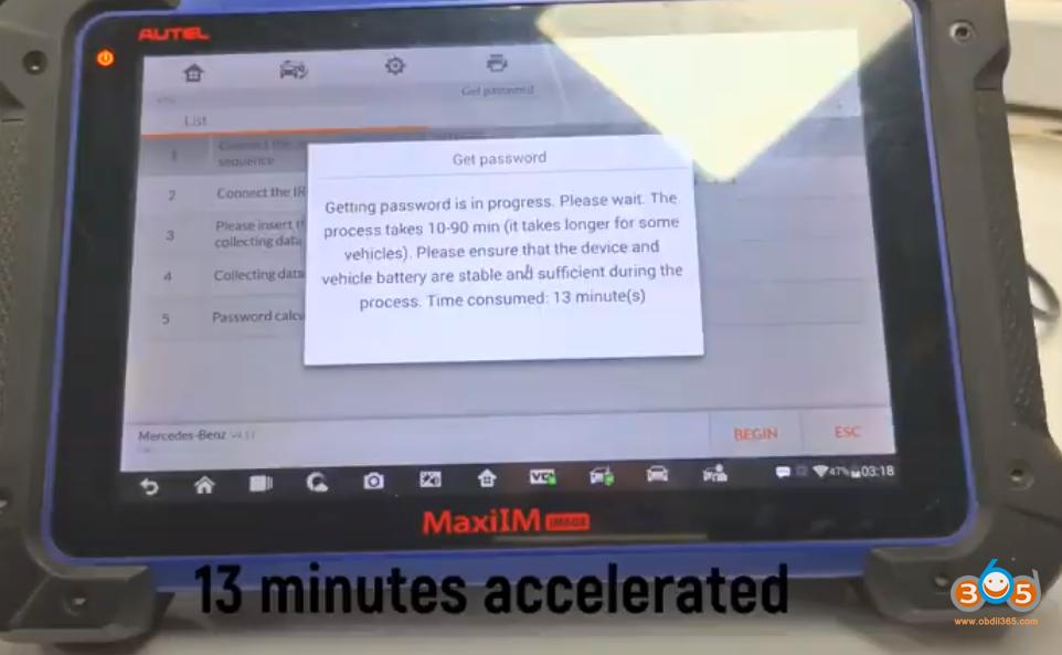 Autel Im608 Mb Test Tool W209 W211 Password 26
