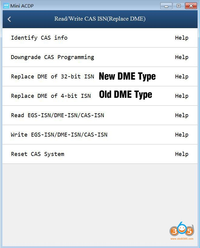 Yanhua Acdp Replace Cas3 Dme Obd Mode 3