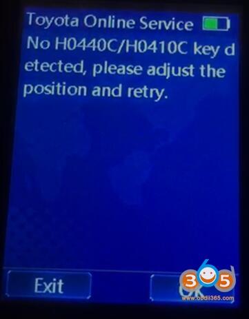 Lonsdor Kh100 No H044c Key Detected 2