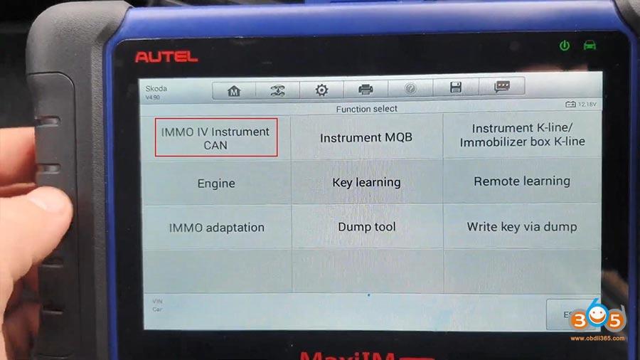 Autel Maxiim Im508 Skoda Octavia 2013 All Keys Lost 06