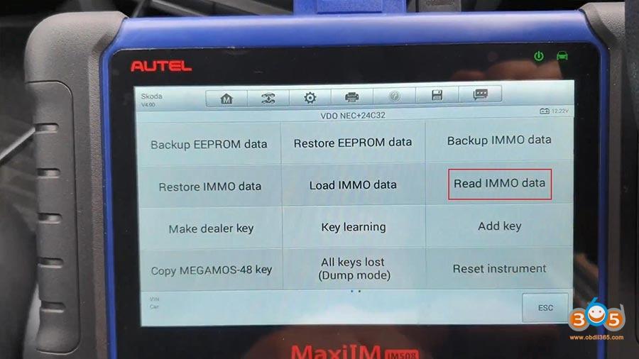 Autel Maxiim Im508 Skoda Octavia 2013 All Keys Lost 09