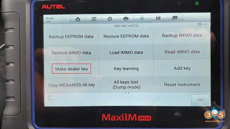 Autel Maxiim Im508 Skoda Octavia 2013 All Keys Lost 11