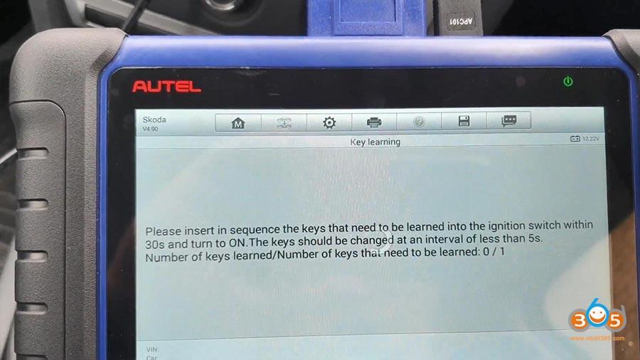 Autel Maxiim Im508 Skoda Octavia 2013 All Keys Lost 17