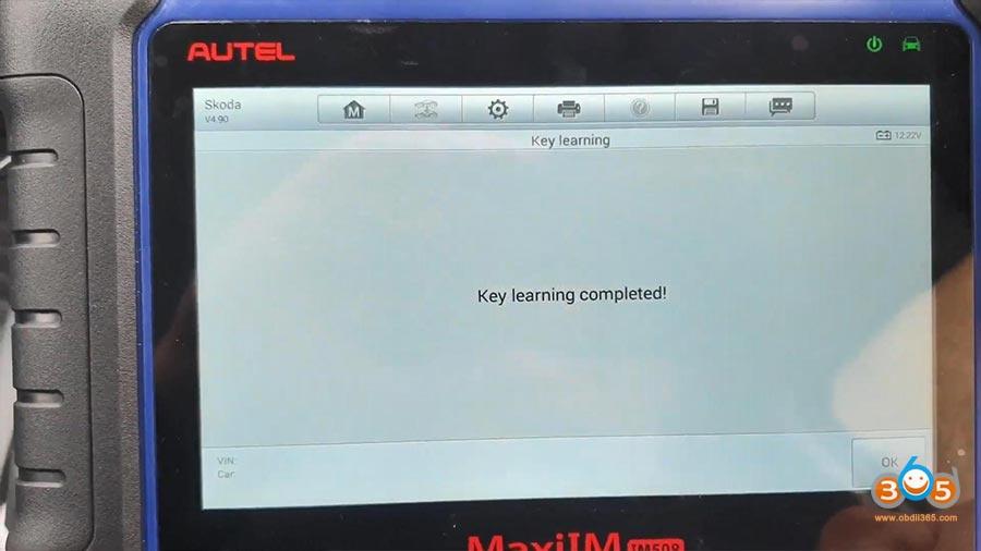 Autel Maxiim Im508 Skoda Octavia 2013 All Keys Lost 18