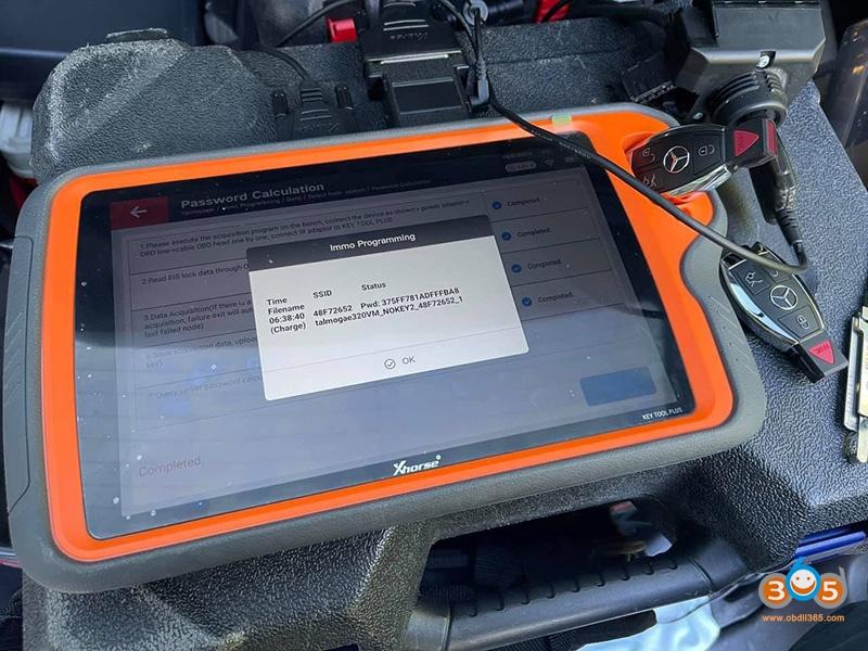 Key Tool Plus Password 2001 Mercedes Benz E320 03