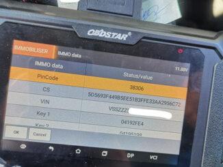 Obdstar X300 Pro4 Seat Leon 2014 MQB 1