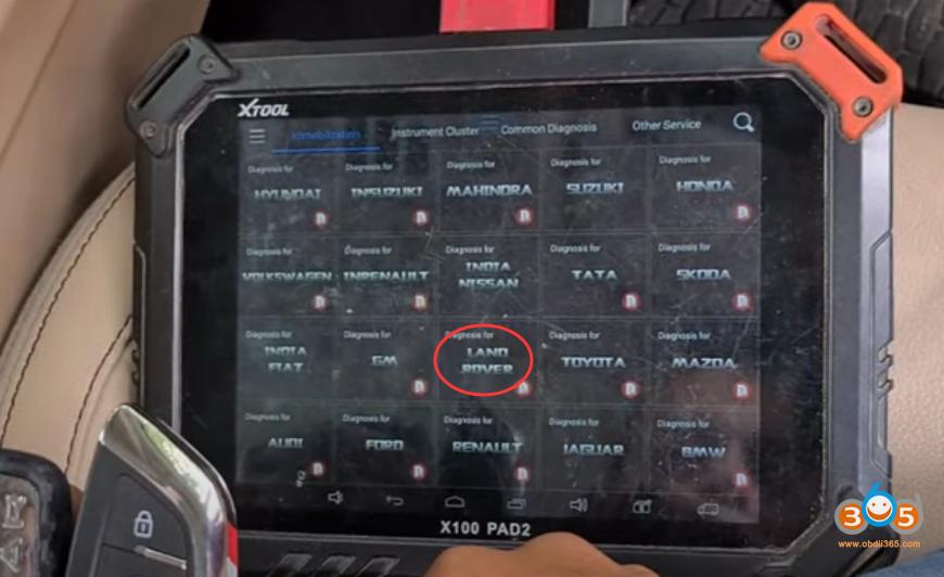 Xtool X100 Pad2 Landrover 2014 Smart Key 7