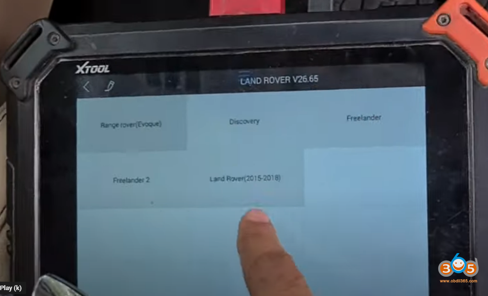 Xtool X100 Pad2 Landrover 2014 Smart Key 8
