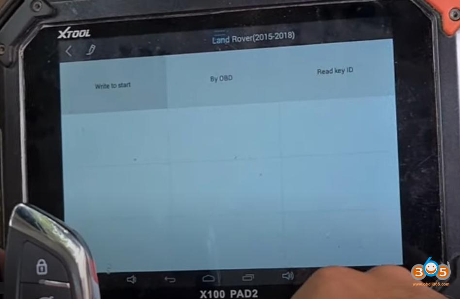 Xtool X100 Pad2 Landrover 2014 Smart Key 9