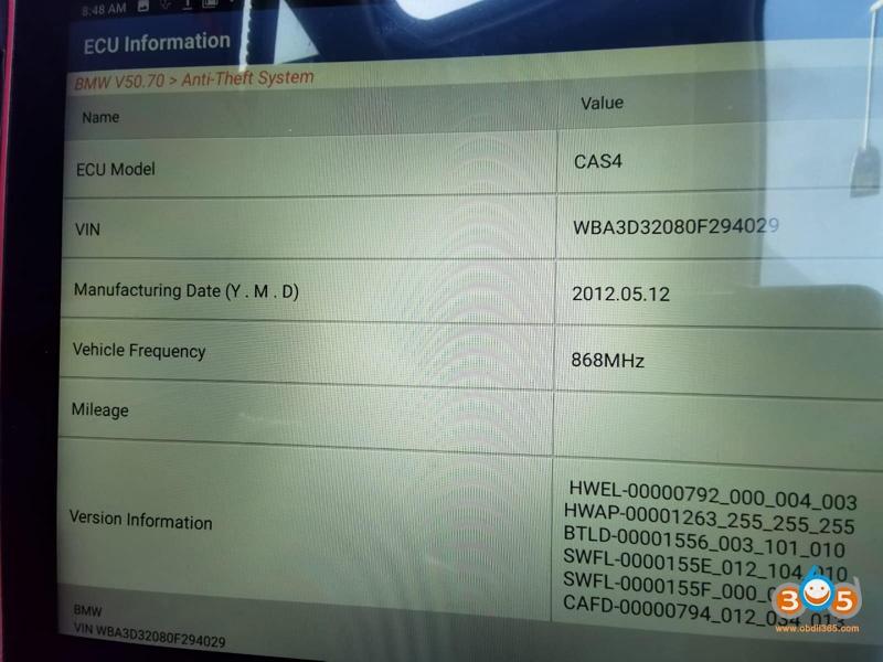 Launch X431 Pad Vii Bmw Cas4 Key 1